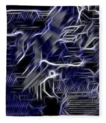 Motherboard - Printed Circuit Fleece Blanket