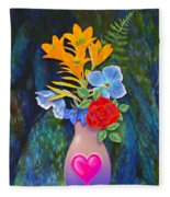 Mothers Day Bouquet Fleece Blanket