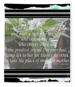 Mother's Day Greeting And Angel Fleece Blanket