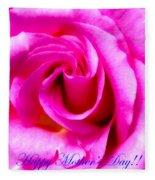 Mother's Day Rose Fleece Blanket