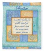 Mother's Day Spa Card Fleece Blanket