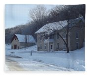 Motor Mill Inn And Livery Fleece Blanket