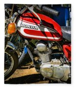 Motorcycle - 1974 Honda Cl 125 Scrambler Classic Fleece Blanket