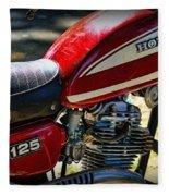 Motorcycle - 1974 Honda Cl 125 Scrambler Fleece Blanket