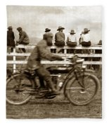 Motorcycle At Salinas California Rodeo Grounds Circa 1910 Fleece Blanket