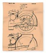 Motorcycle Patent 1925 Fleece Blanket