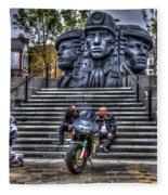 Motorcycle Rally 4 Fleece Blanket