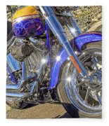 Motorcycle Without Blue Frame Fleece Blanket