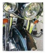 Motorcyle Classic Headlight Fleece Blanket