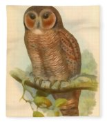 Mottled Wood Owl Fleece Blanket