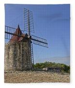 Moulin De Daudet Fontvieille France Dsc01833 Fleece Blanket