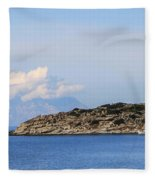 Mount Athos In Clouds View From Sithonia Greece Fleece Blanket