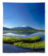 Mount Bachelor And Sparks Lake Fleece Blanket
