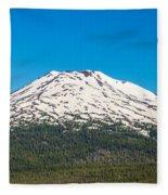Mount Bachelor Closeup Fleece Blanket