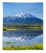 Mount Bachelor Reflection Fleece Blanket