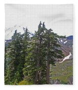 Mount Baker Area Wilderness Fleece Blanket