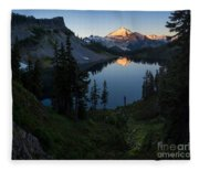 Mount Baker Chain Lakes Awakening Fleece Blanket
