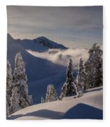 Mount Baker Snowscape Fleece Blanket