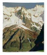 Mount Blanc Mountains Fleece Blanket