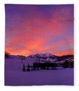 Mount Crested Butte 2 Fleece Blanket