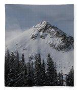 Mount Crested Butte 3 Fleece Blanket