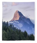 Mount Denman In Desolation Sound Marine Fleece Blanket