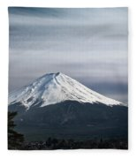 Mount Fuji Japan Fleece Blanket