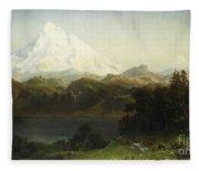Mount Hood In Oregon Fleece Blanket