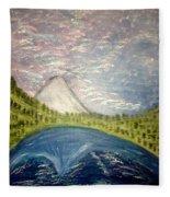 Mount Hood Night Sky Fleece Blanket