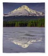 Mount Hood Reflections Fleece Blanket