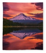 Mount Hood Sunrise Fleece Blanket