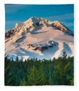 Mount Hood Winter Fleece Blanket