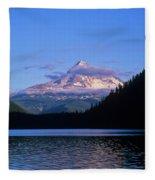 Mount Hoods Looms Over Lost Lake  Hood Fleece Blanket