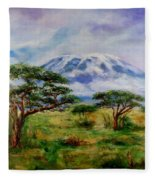 Mount Kilimanjaro Tanzania Fleece Blanket
