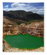 Mount Lyall Mine In Queenstown Fleece Blanket