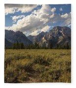 Mount Moran - Grand Teton National Park Fleece Blanket