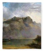 Mount Olympus. Lake St Clair. Tasmania The Source Of The Derwent Fleece Blanket