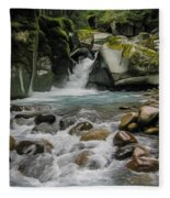 Mount Rainier Falls Fleece Blanket