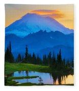 Mount Rainier Goodnight Fleece Blanket