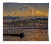 Mount Rainier Fleece Blanket