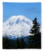 Mount Rainier Panorama Fleece Blanket