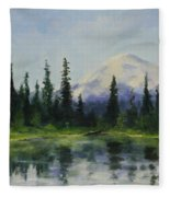 Picnic By The Lake Fleece Blanket
