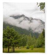 Mount Robson Provincial Park Fleece Blanket