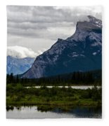 Mount Rundle And Vermilion Lake Fleece Blanket