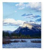 Mount Rundle Fleece Blanket