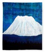 Mount Shasta Original Painting Fleece Blanket