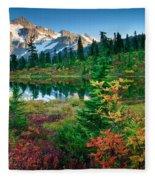 Mount Shuksan Fall Cornucopia Fleece Blanket