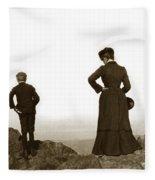 Mount Tamalpais Marin County California Circa 1902 Fleece Blanket