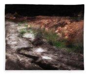 Mount Trashmore - Series Iv - Painted Photograph Fleece Blanket
