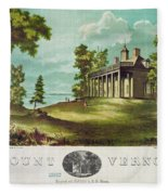 Mount Vernon, 1859 Fleece Blanket